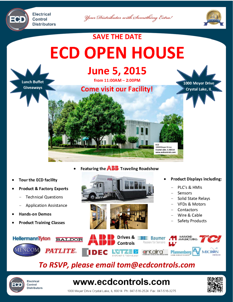 ECD 2015 Open House - Save the Date